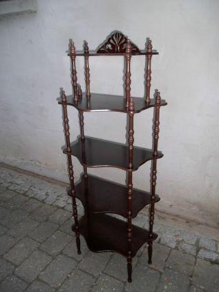GrÜnderzeit Stil Top Wunderschöne Etagère Stand - Regal In Mahagoni - Optik Bild