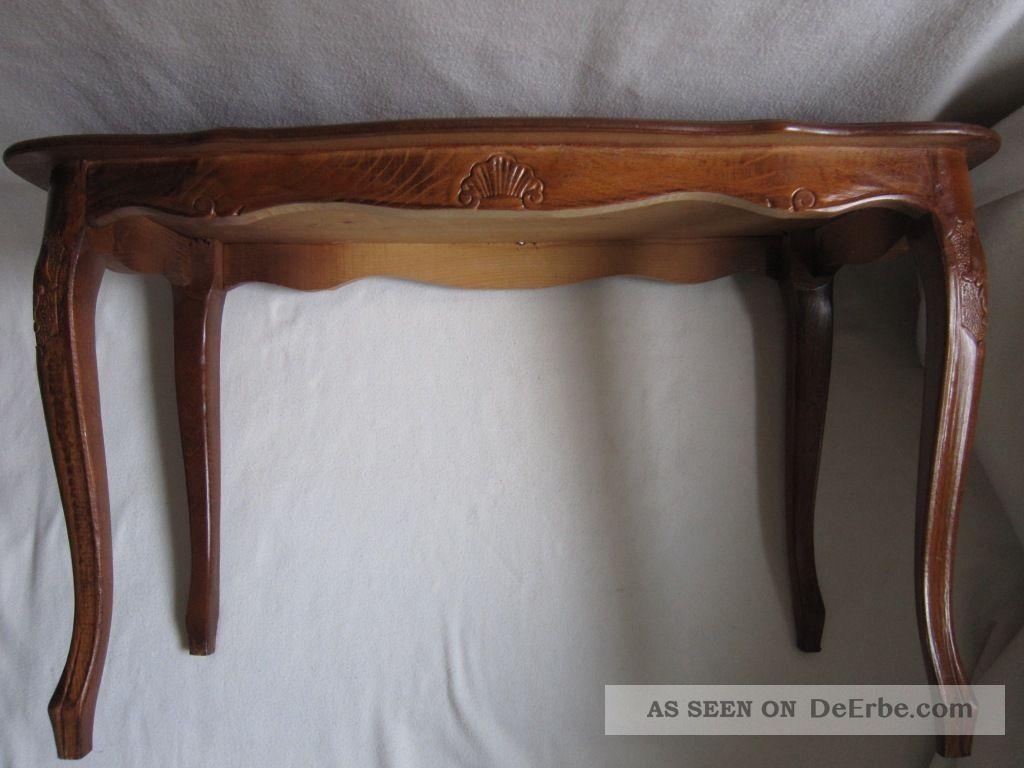 Inlay coffee table biedermeier tisch intarsien schellack for Beistelltisch nussbaum