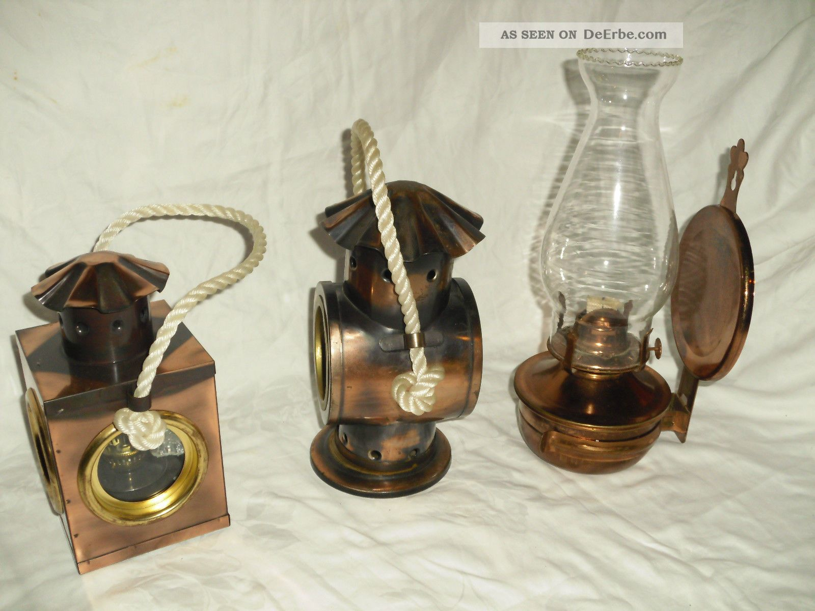 petroleumlampe 3 st ck llampe metall kupfer farb. Black Bedroom Furniture Sets. Home Design Ideas
