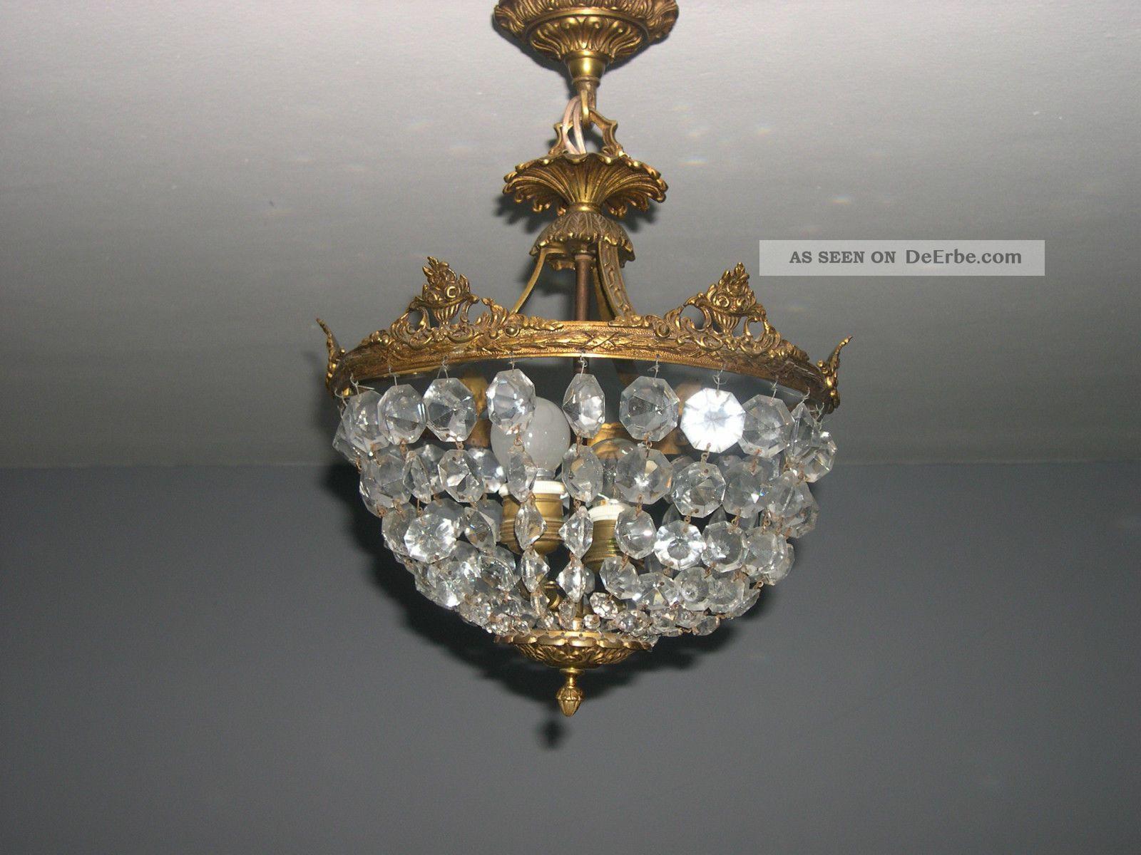 Plafoniere Kristall Antik : Jugendstil glas kristall deckenlampe plafoniere ca