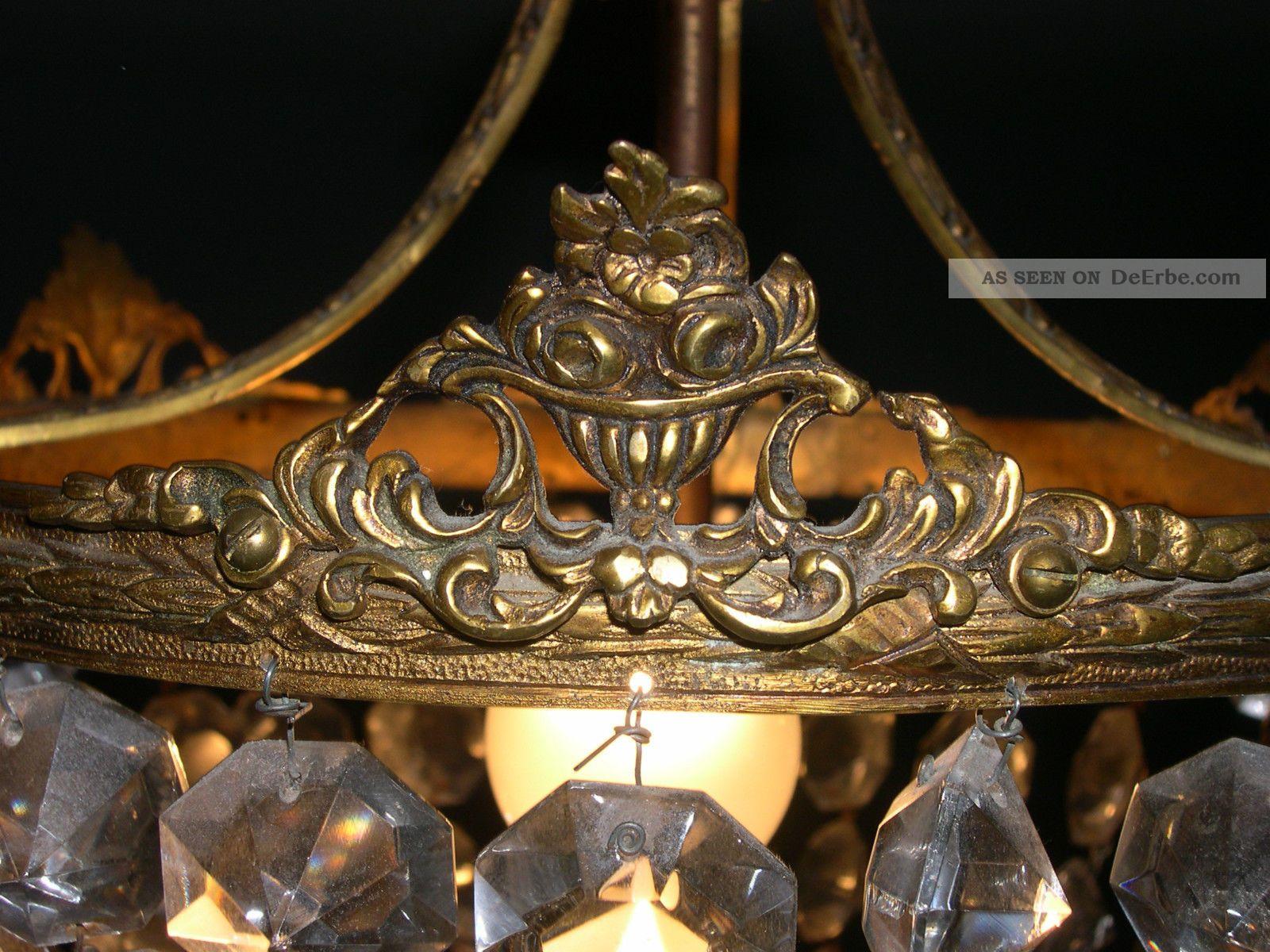 Plafoniere Kristall : Antike kristall plafoniere deckenlampe palwa in nordrhein