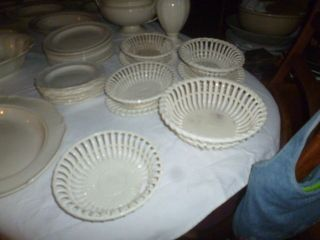 1096 - Große Sammlung Wedgwood Creamware,  Queensware - 49 Teile - Ca.  1790 - 1850 Bild