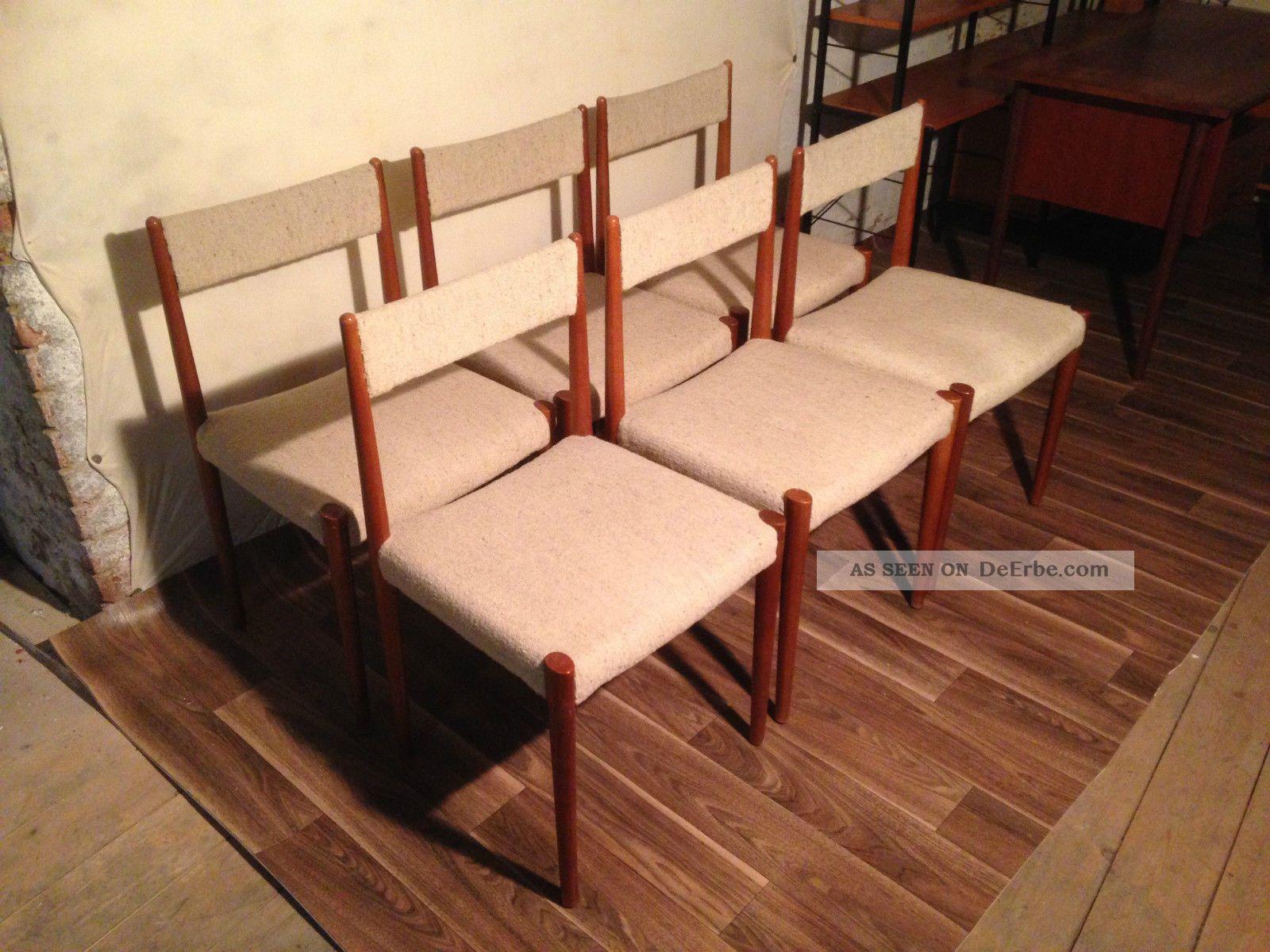 Tisch6 Lübke Esszimmer Dänemark Stühle Antiker Dänish 60er 3j4RqAL5