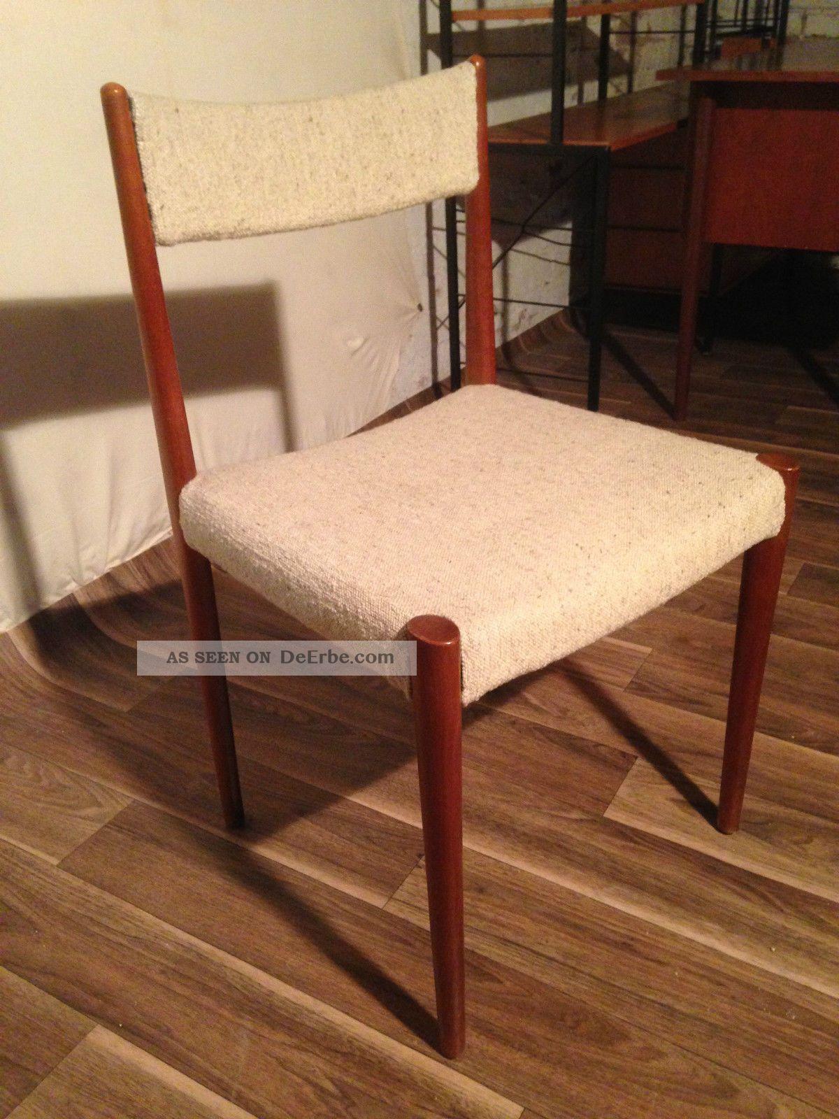 antiker tisch 6 st hle esszimmer 60er l bke d nish d nemark nussbaum hannover. Black Bedroom Furniture Sets. Home Design Ideas