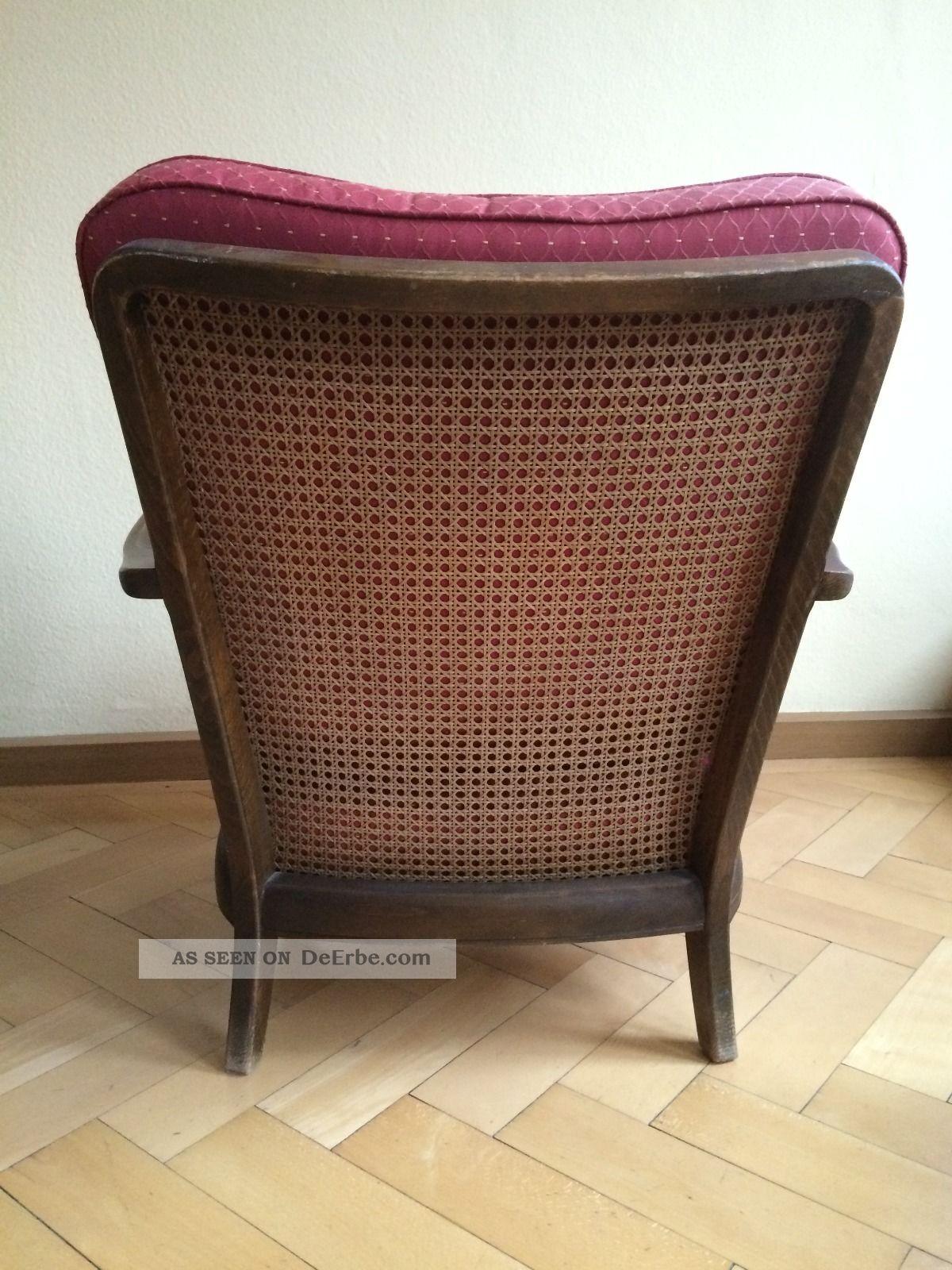 sofa 3 sitzer und sessel 50er jahre stil chippendale mit wiener geflecht. Black Bedroom Furniture Sets. Home Design Ideas