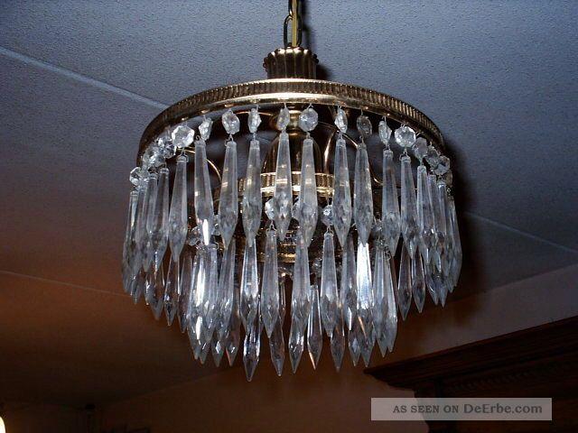 bezaubernder kleiner kristall l ster deckenlampe frankreich. Black Bedroom Furniture Sets. Home Design Ideas