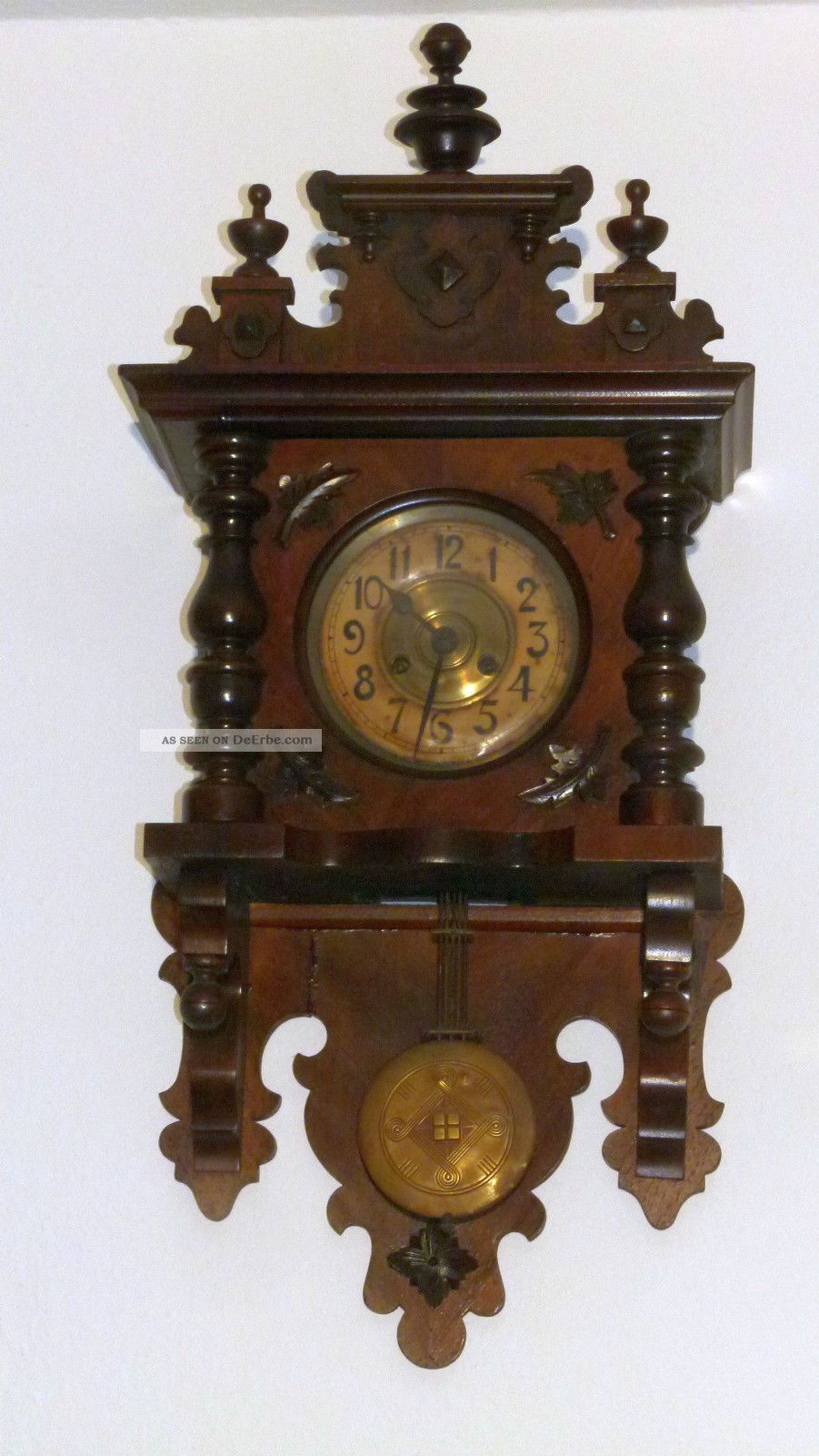 gr nderzeit wanduhr antik holz pendeluhr regulator uhr ca 1900. Black Bedroom Furniture Sets. Home Design Ideas