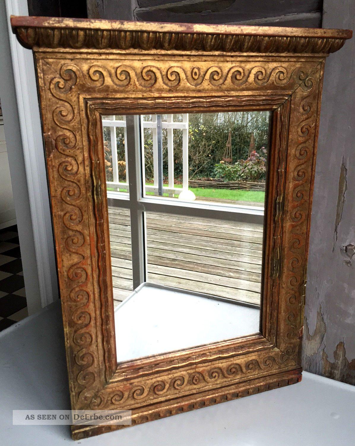 Antiker Spiegel In Schönem Holzrahmen