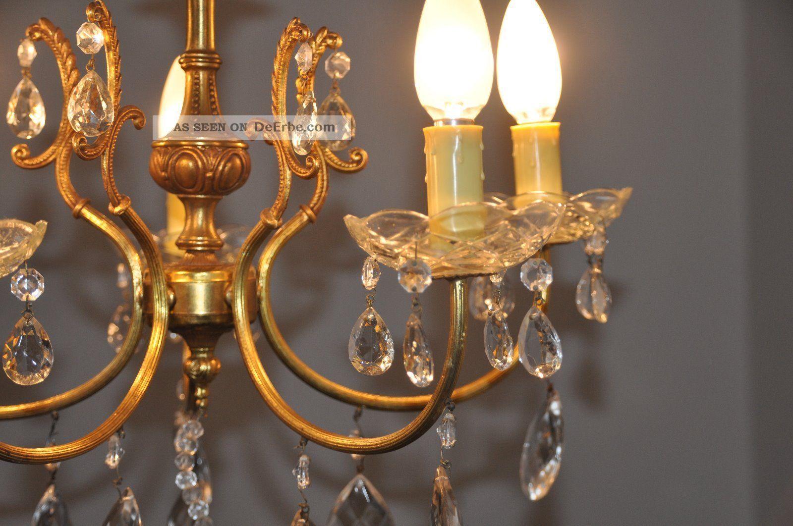 antiker jugendstil kristall kronleuchter l ster lampe 5. Black Bedroom Furniture Sets. Home Design Ideas