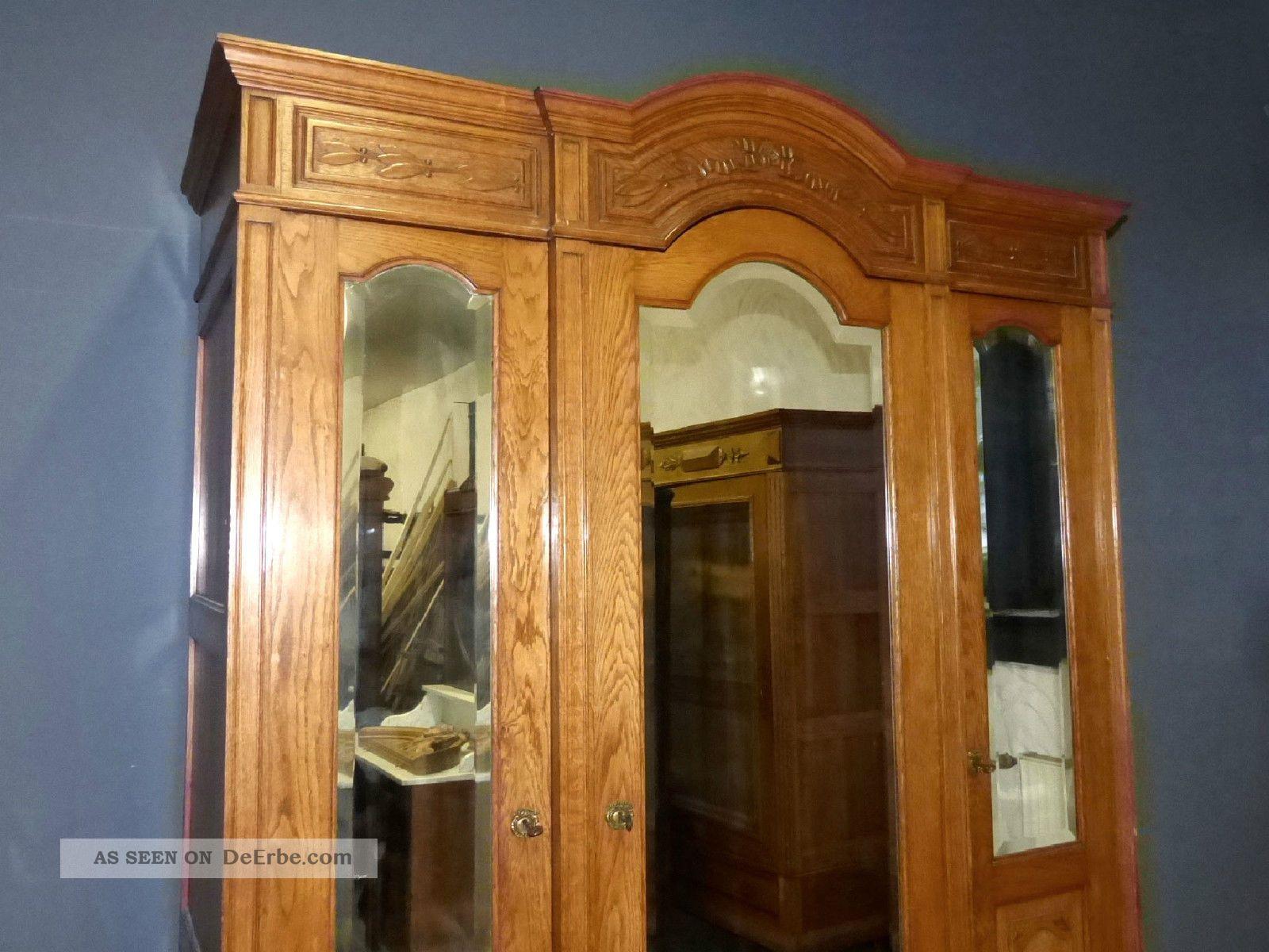 xl jugendstil kleiderschrank dielenschrank antik. Black Bedroom Furniture Sets. Home Design Ideas