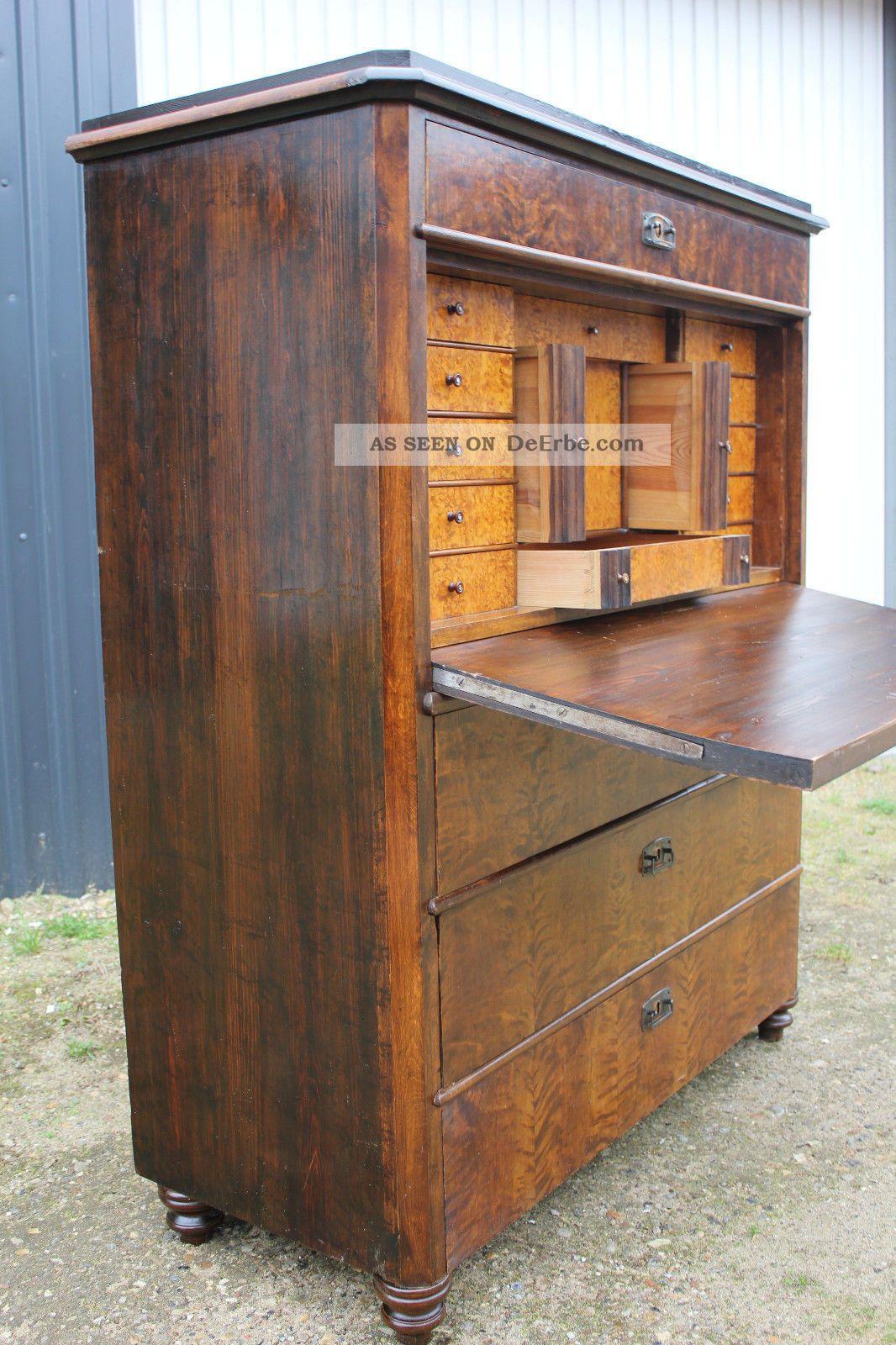 antiker sekret r um 1880 schreibtisch kommode. Black Bedroom Furniture Sets. Home Design Ideas