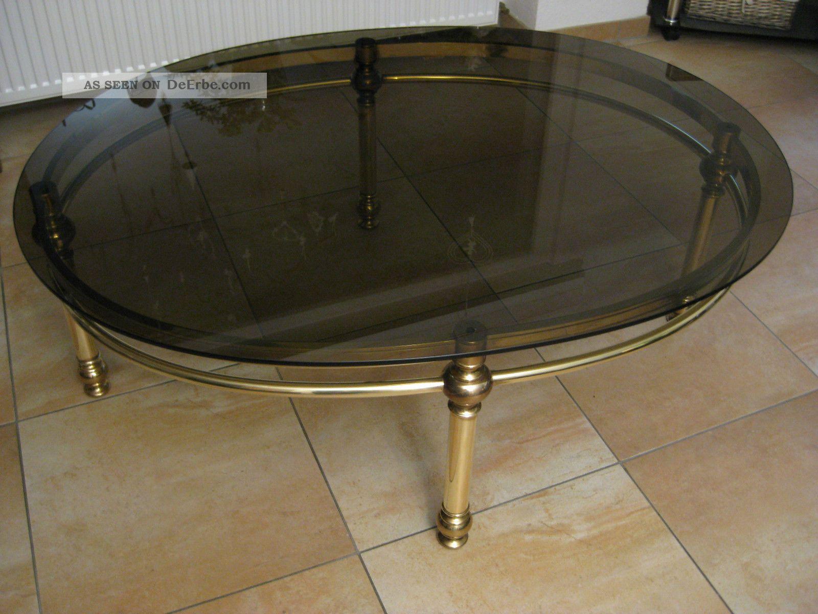 Couchtisch messing oval 130x100x48 deutsches produkt for Kleiner marmortisch