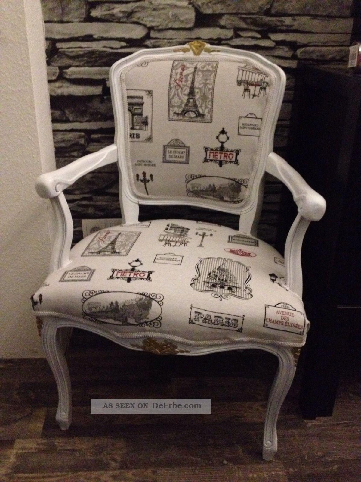Stuhl sessel chair barock rokoko chippendale shabby paris for Stuhl design epochen