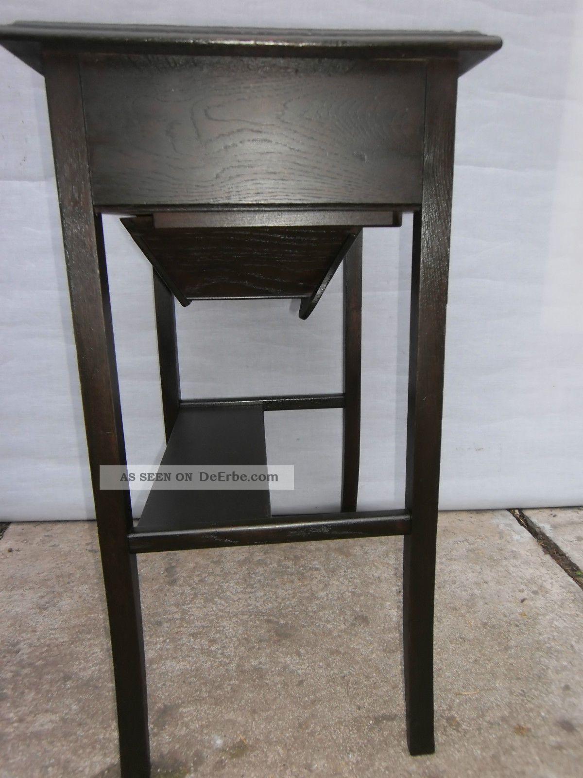 jugendstil n htisch mit schublade und wollfach tisch eiche furniert. Black Bedroom Furniture Sets. Home Design Ideas