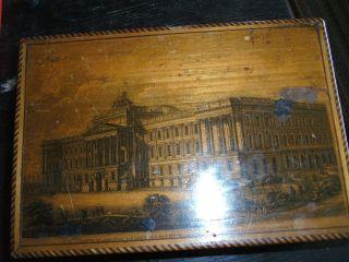 Schmuckkästchen Mit Tuschmalerei Unrestauriert Um 1850 Bild