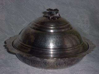 Wunderschöne Bonboniere / Schale,  900er Silber,  Hammerschlag Bild