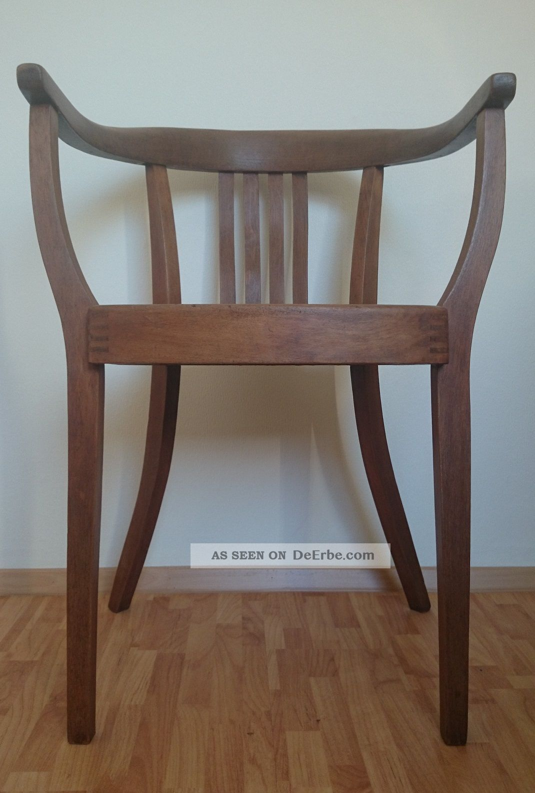 Schreibtischstuhl antik  Armlehnstuhl Bauhaus Art Deco Gropius Stuhl Holzstuhl ...