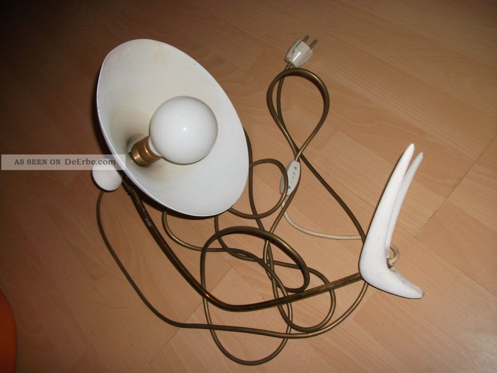 60er 70er jahre lampe tischlampe vintage wei designlampe. Black Bedroom Furniture Sets. Home Design Ideas
