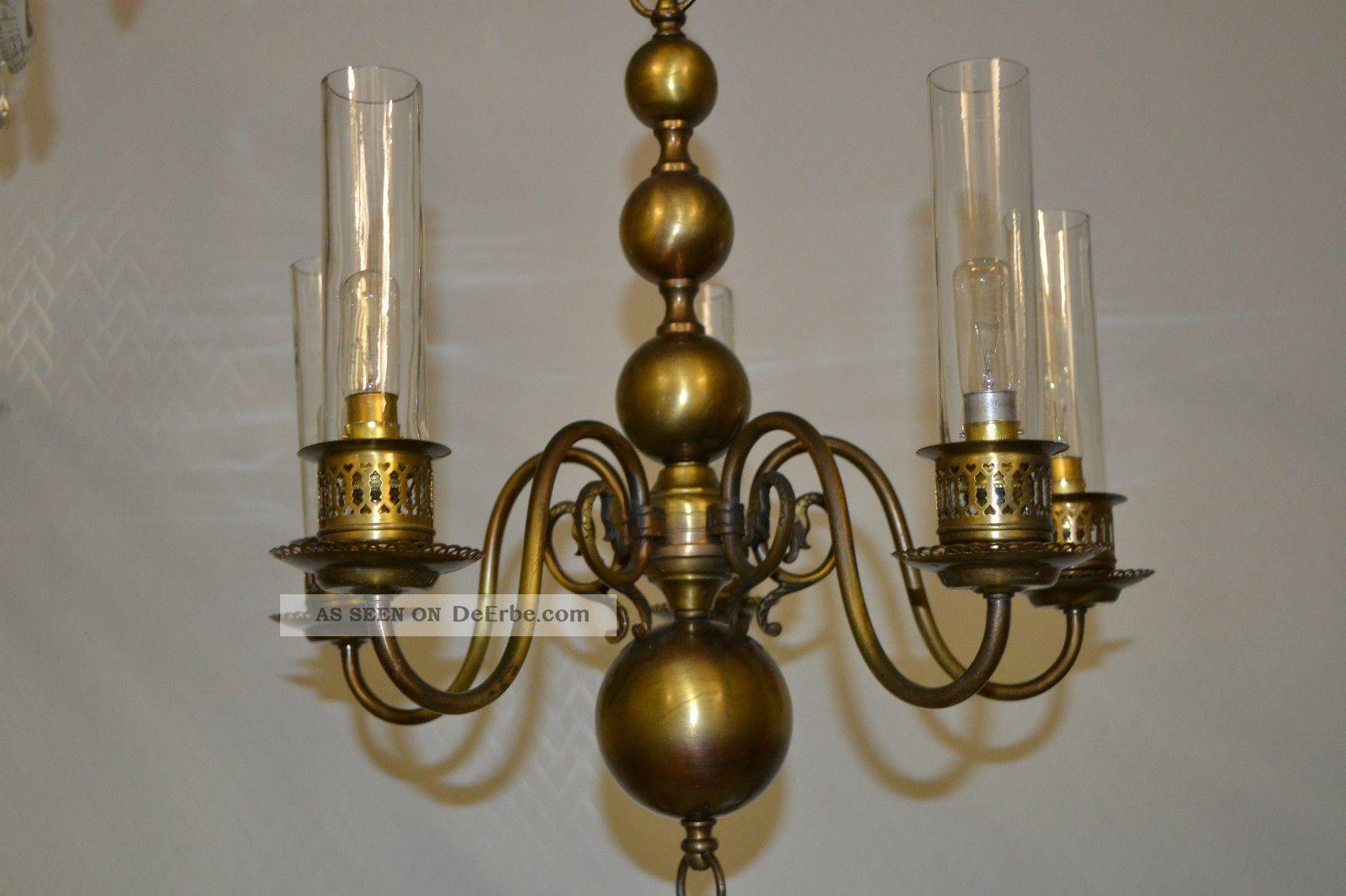 Antike deckenlampe aus messing for Deckenlampe messing