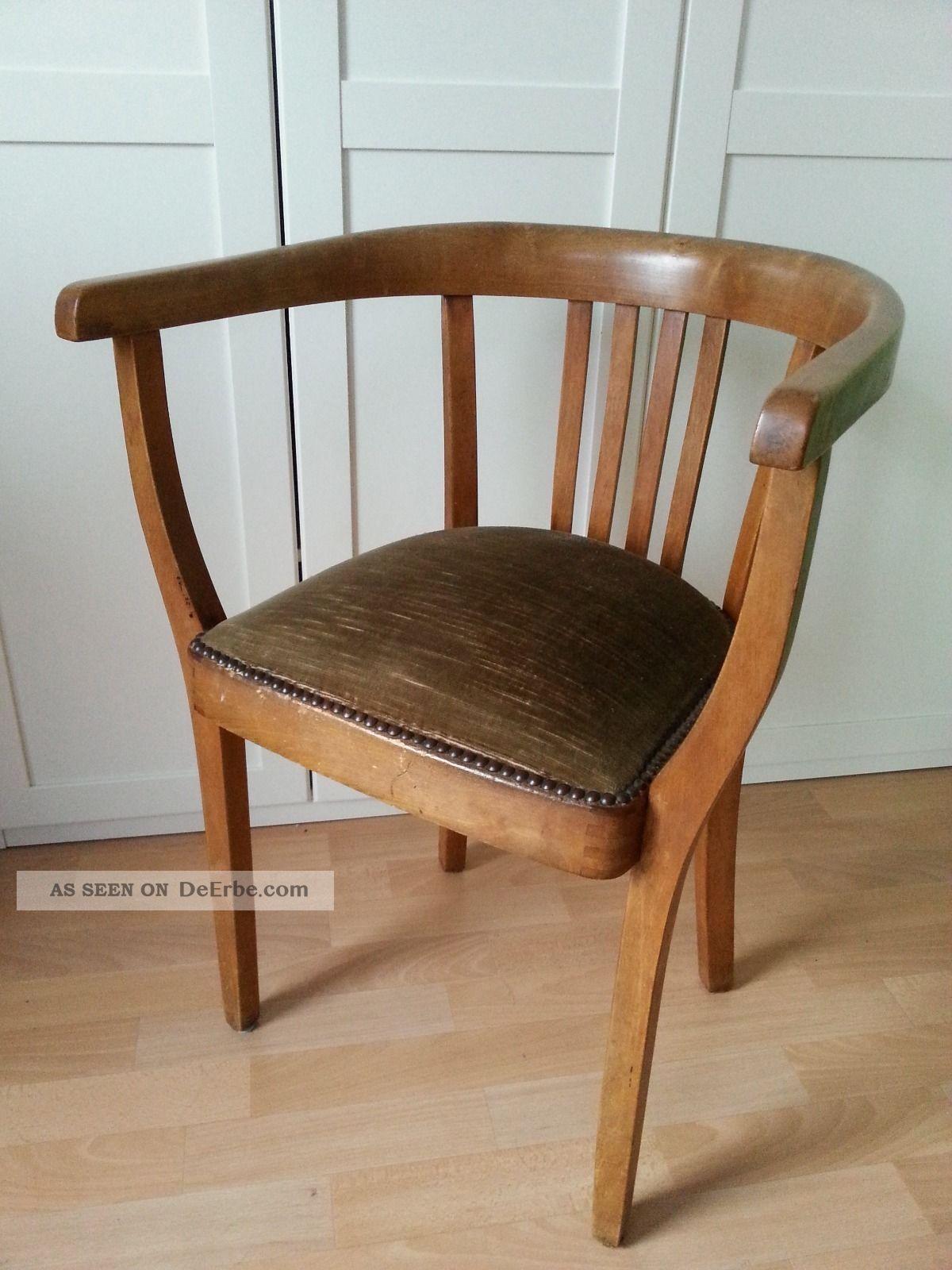 alter schreibtischstuhl bauhaus art deco federkerngepolsterter armlehnstuhl top. Black Bedroom Furniture Sets. Home Design Ideas
