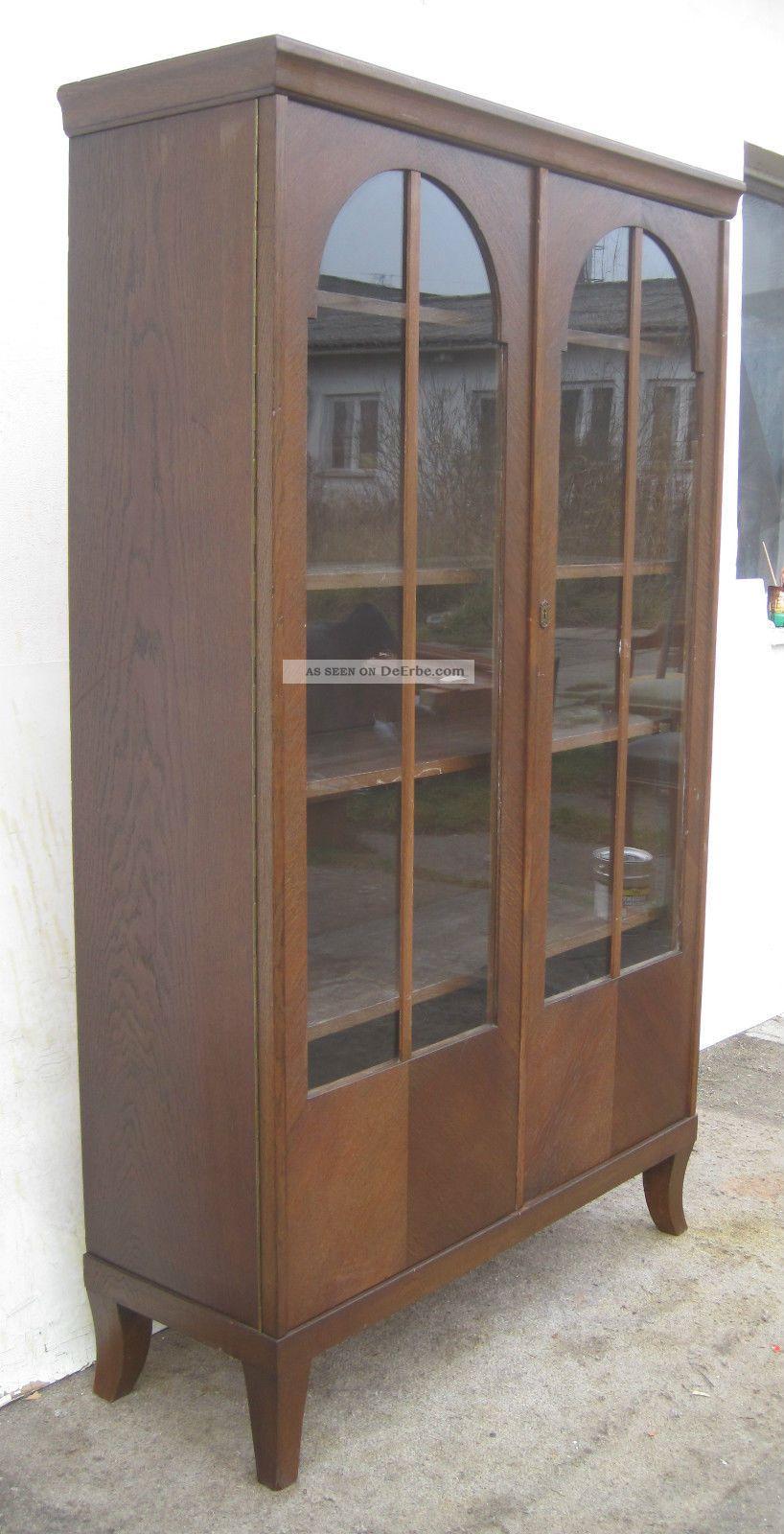 jugendstil vitrine eiche ca 1910. Black Bedroom Furniture Sets. Home Design Ideas