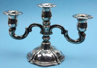 Sehr Schöner Alter Silberleuchter 3flammig,  Gestempelt 830s Meistermarke Lo Bild