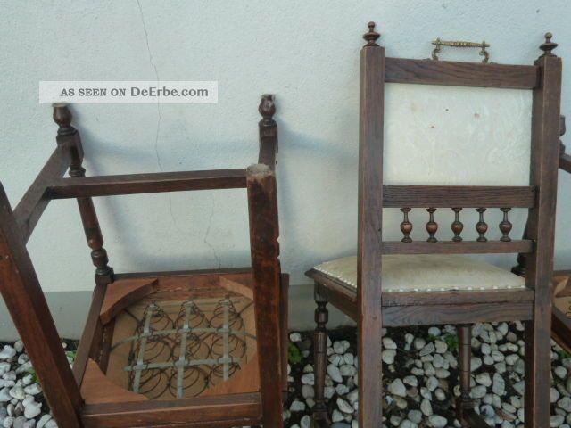 3 Antike Stühle Gründerzeit Jugendstil Kaffeehausstuhl