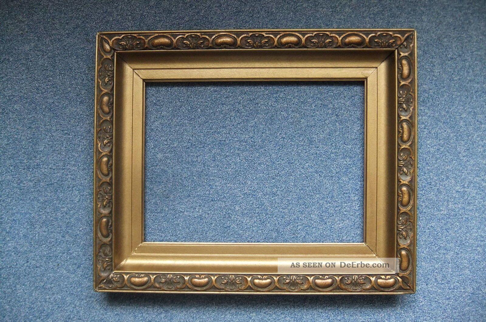 antiker goldrahmen 40 x 30 cm. Black Bedroom Furniture Sets. Home Design Ideas