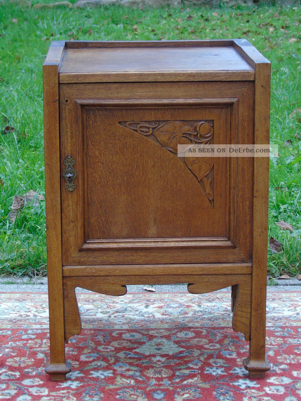 Jugendstil Beistelltisch Um 1900 Beistell Kommödchen Kleinmöbel Holz