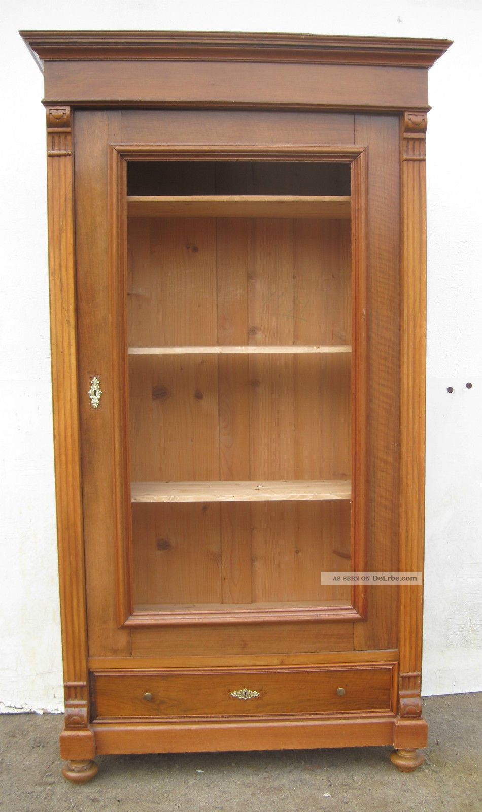 gr nderzeit vitrinen b cherschrank ca 1895 nu baum. Black Bedroom Furniture Sets. Home Design Ideas