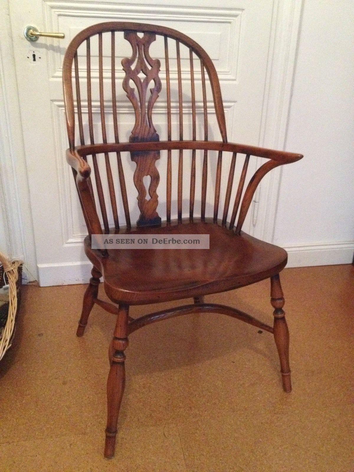 Armlehnstuhl windsor antik chair quaker england carver vintage ercol - Windsor stuhl ...