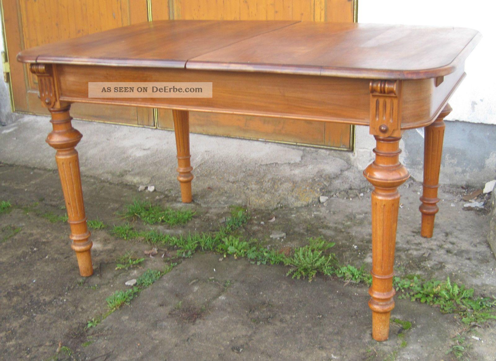 ... Speisezimmer - Tisch - Nußbaum Ausziehbar, Ca 1890 Esstische Bild 1