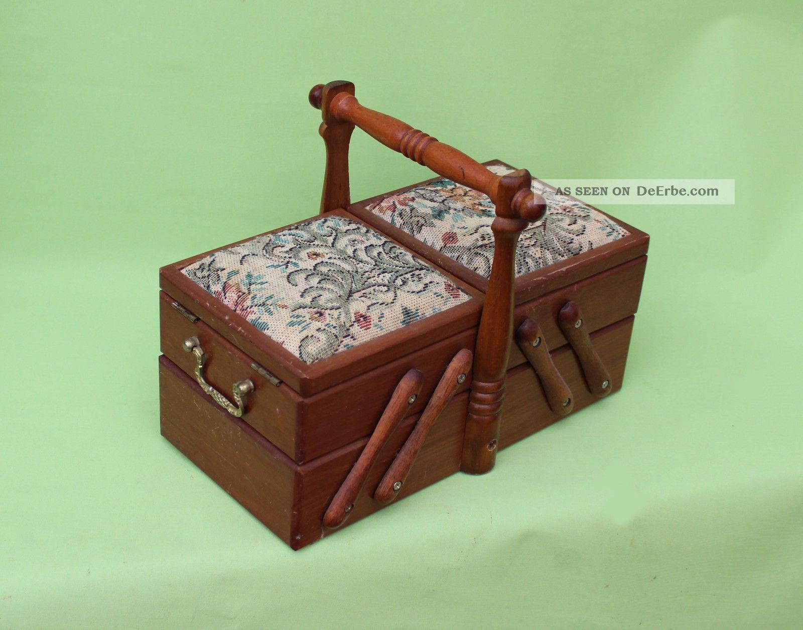 antikes holz n hk stchen deckel als nadelkissen gobelin sehr selten. Black Bedroom Furniture Sets. Home Design Ideas