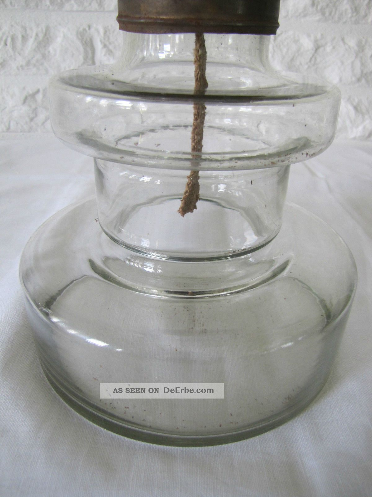 alte petroleumlampe komplett aus glas. Black Bedroom Furniture Sets. Home Design Ideas