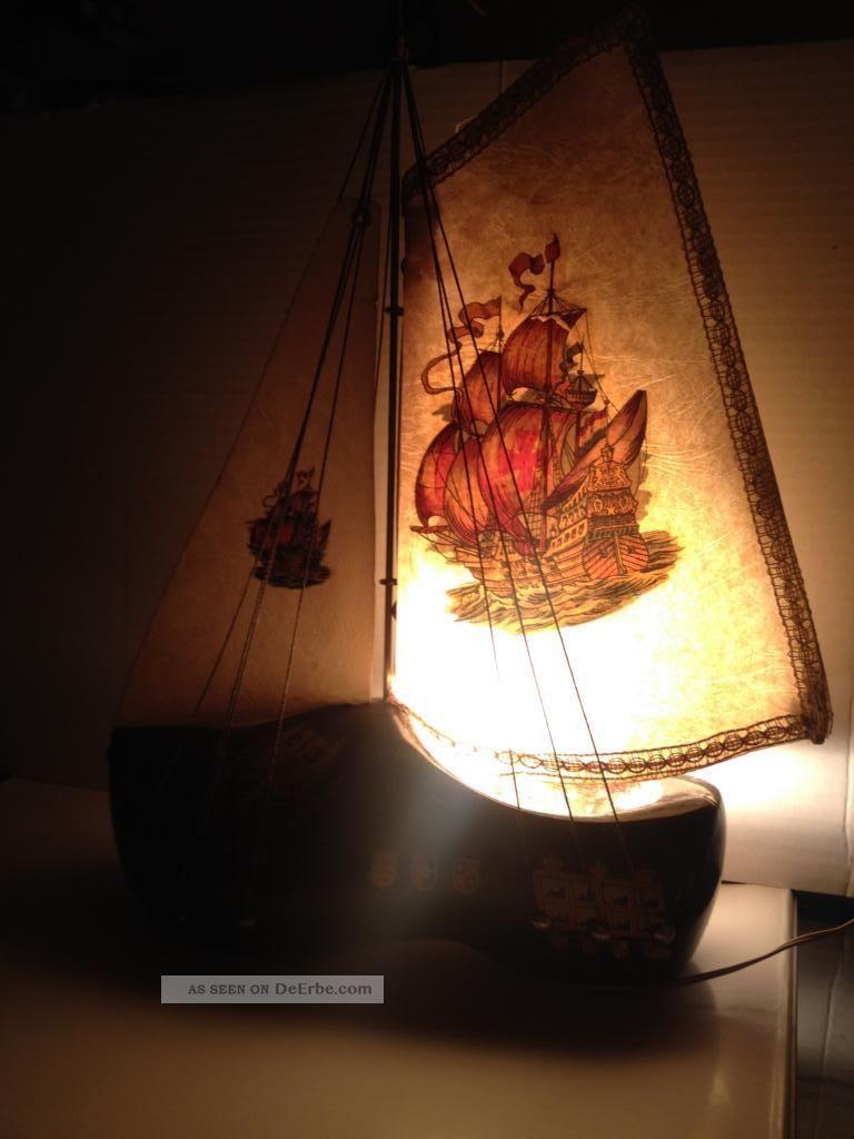 tischlampe segelboot holzschuh holland holzpantoffel deutsche flagge leuchte. Black Bedroom Furniture Sets. Home Design Ideas