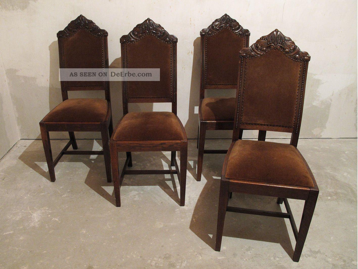 4 st hle aus gr nderzeit ca 1880 massiv eiche in sehr. Black Bedroom Furniture Sets. Home Design Ideas