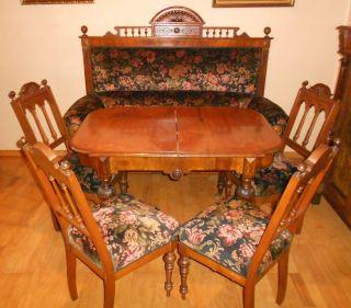 Gründerzeit - Esszimmer Um 1890 - Sofa,  4 Stühle,  Ausziehbarer Tisch Bild