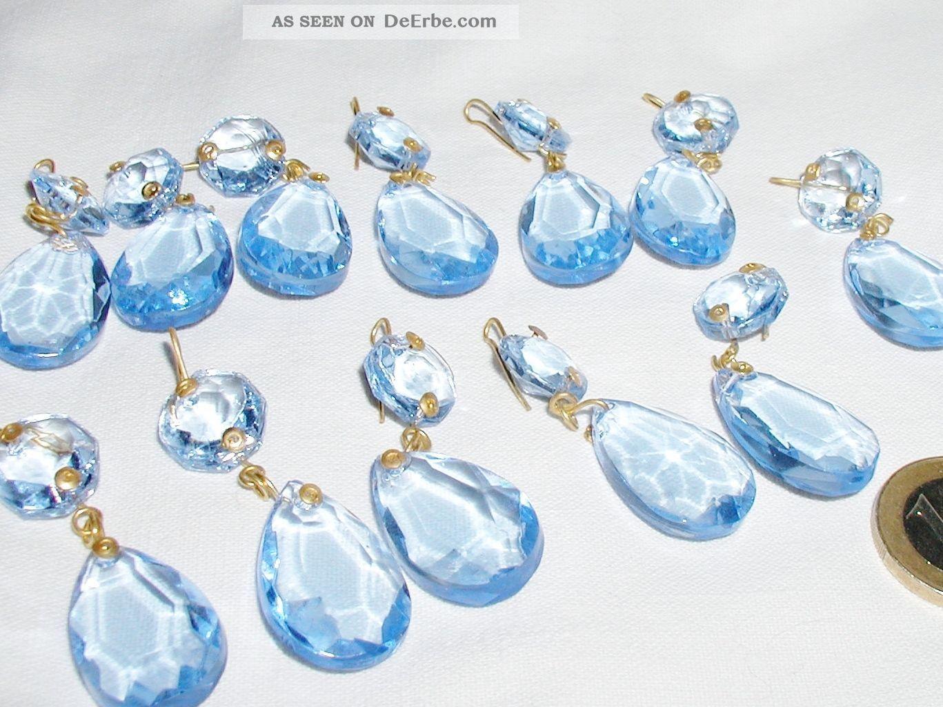Kronleuchter Behang ~ Lüster kronleuchter prismen behang himmelblau glas stück