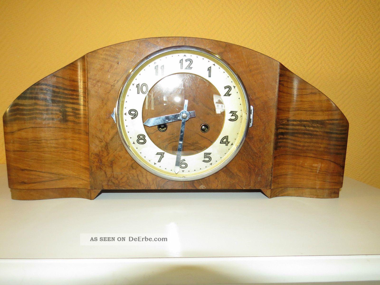 Alte uhr aufsatzuhr buffet uhr kaminuhr tischuhr for Wohnzimmer 1950