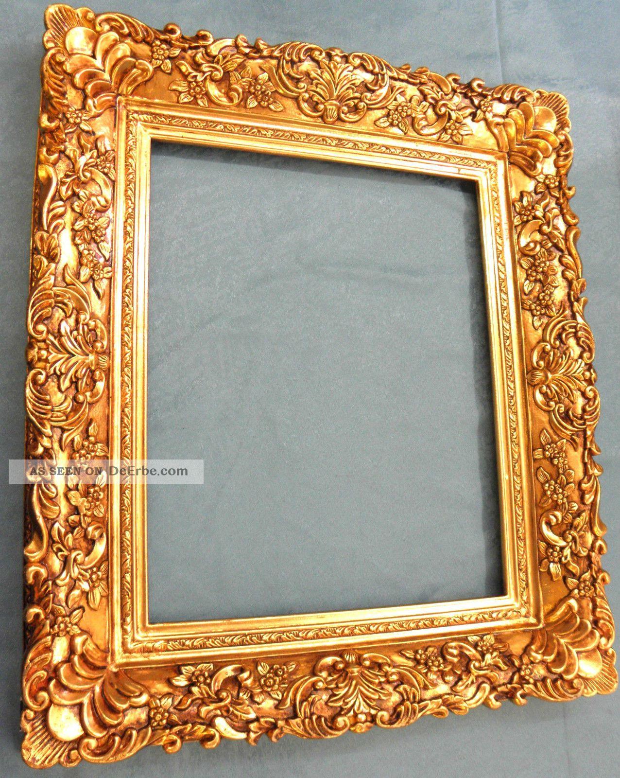 Barock Bilderrahmen 40 X 50 Cm Falzmaß Rahmen Gold Neuware Rf121