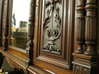 Prunkvolles Antik Gr?nderzeit Zimmer Schrank Sideboard Tisch Und 6 ...