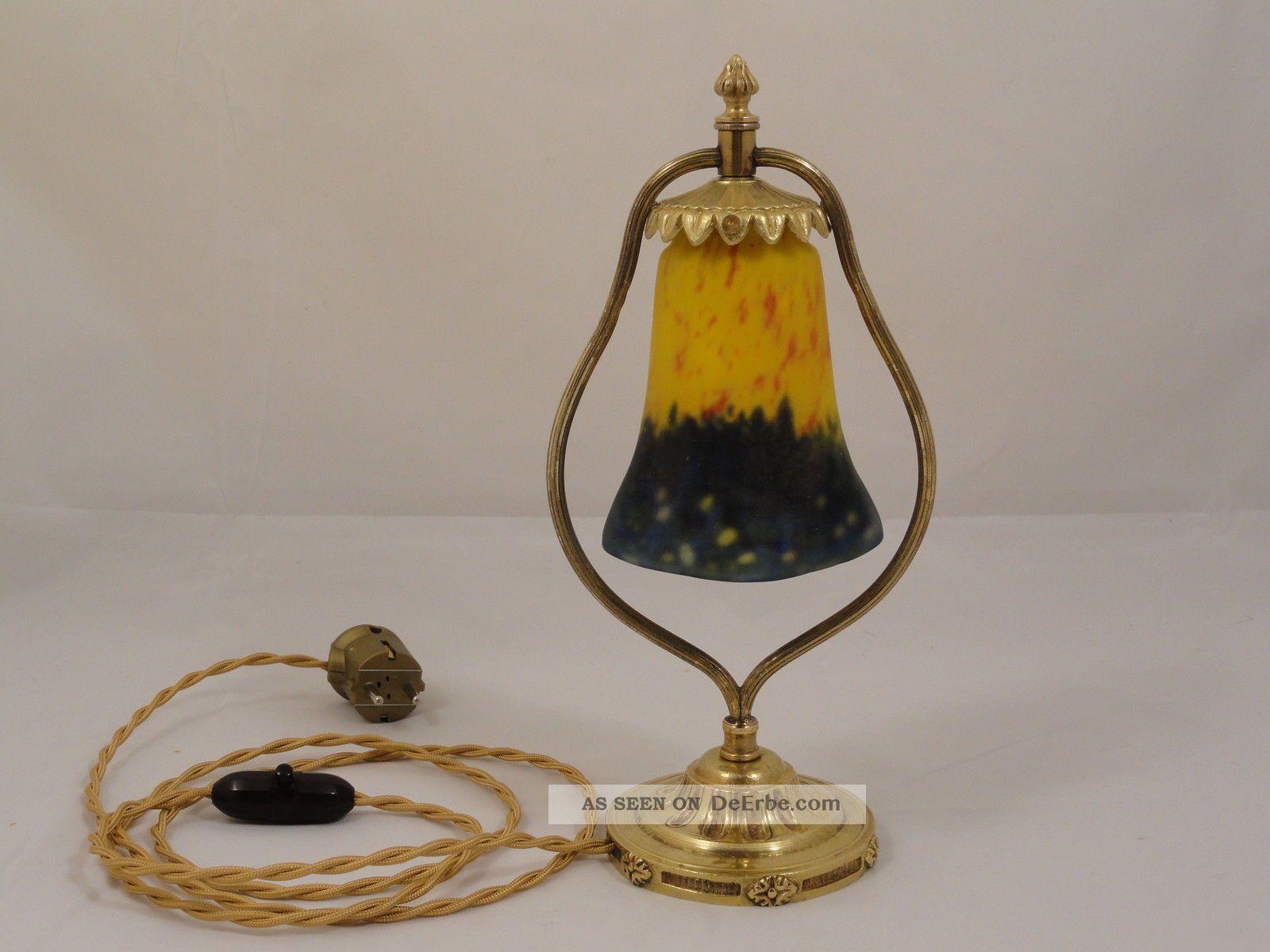 muller freres signiert art deco lampe jugendstil pate de. Black Bedroom Furniture Sets. Home Design Ideas