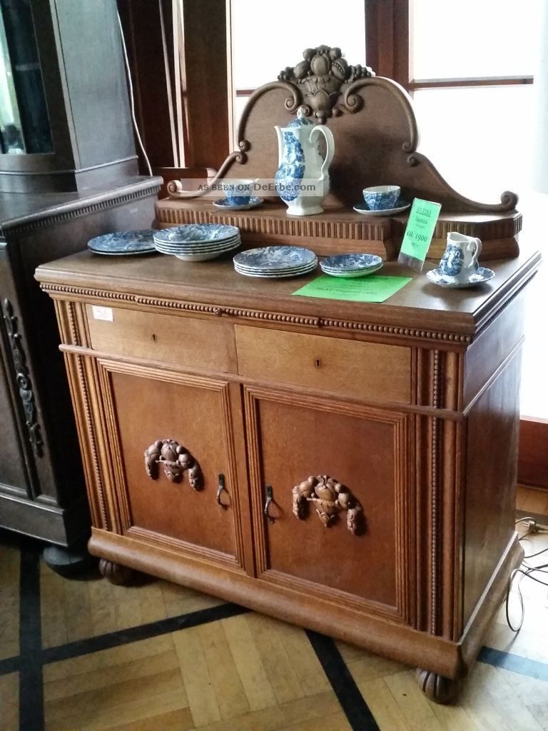 hammer antikes sideboard kommode anrichte buffet vitrine mit aufsatz top. Black Bedroom Furniture Sets. Home Design Ideas