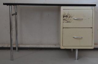Kleiner Schreibtisch Der Fa.  Mauser,  Schreibtisch Für Praxis,  Ca.  1940/50er Bild