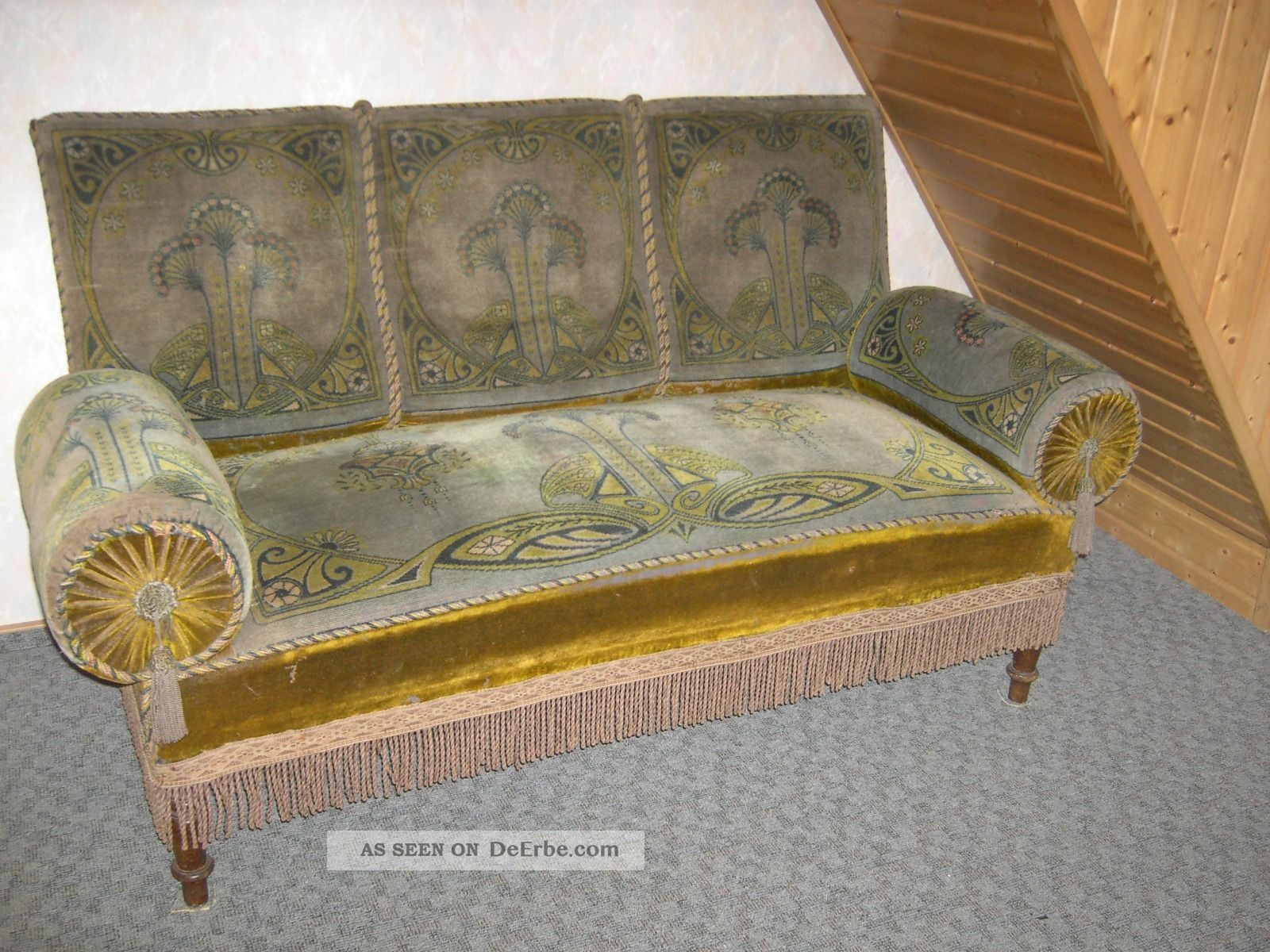 antikes sofa jugendstil. Black Bedroom Furniture Sets. Home Design Ideas