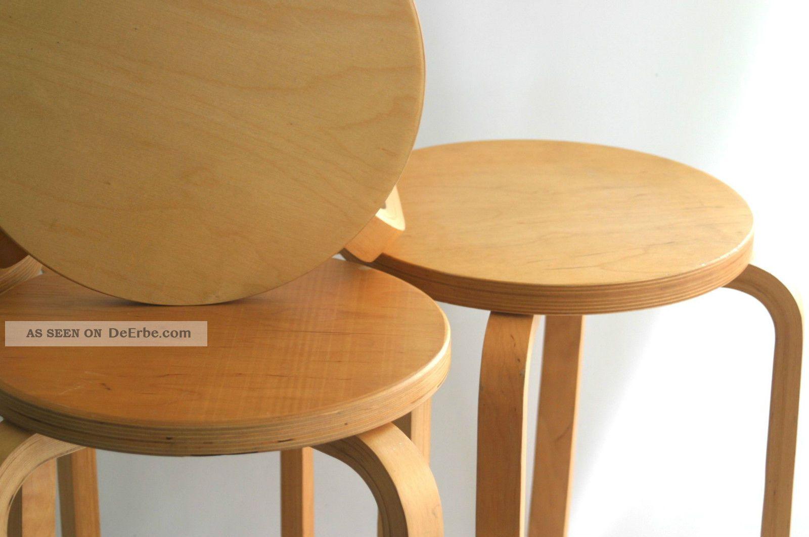 Satz von 4 hockern aus birkensperrholz otk 42 for Schreibtischstuhl skandinavisch