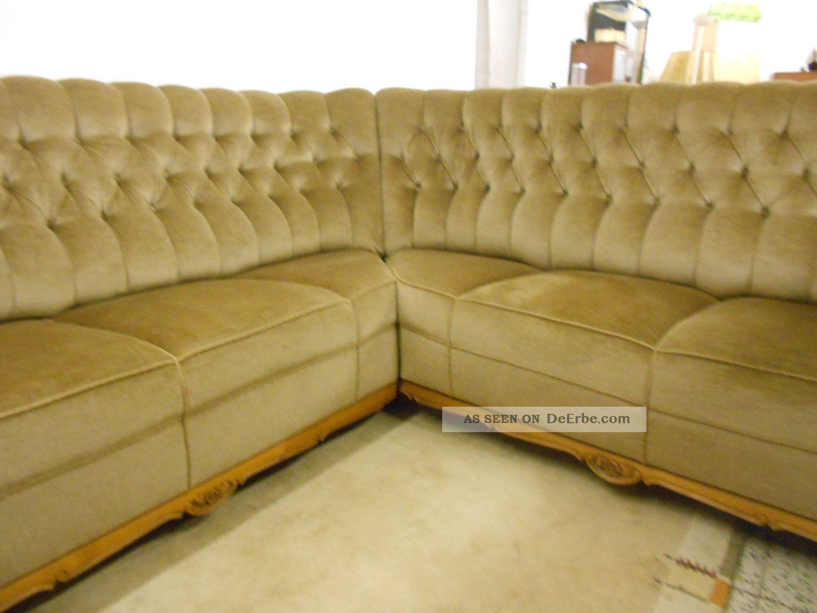 sofa couch ecksofa chippendale stil chesterfield stil gr n. Black Bedroom Furniture Sets. Home Design Ideas