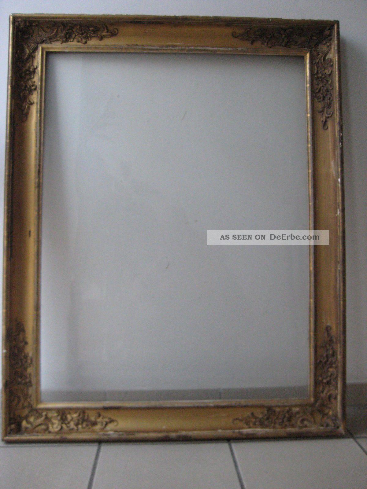 Gr. Klassizismus Gemälde - Rahmen Um 1800, Gratleisten, Holz ...