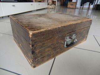 Alter Holzkoffer Kleine Antike Truhe Schmuckkiste Holz Kiste Oldtimer Holztruhe Bild