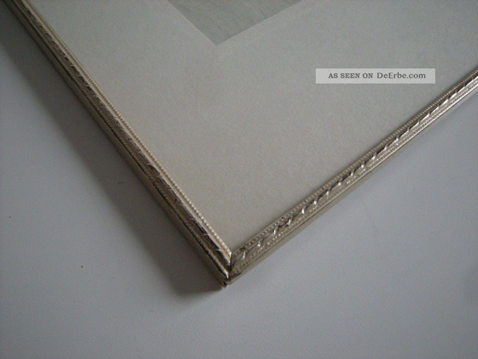 Bilderrahmen Aus Metall Mit Glas Silber - Gold 30x21cm 50er 60er ...